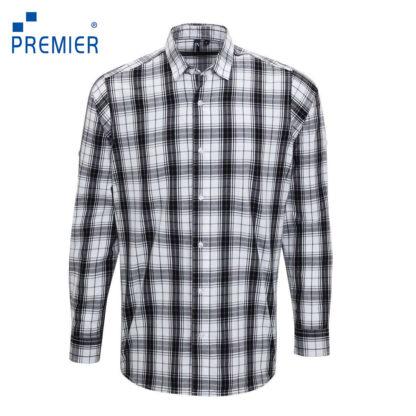 uomo-camicia-menLSginmill-blackwhite