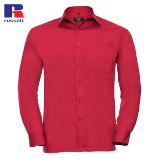uomo-camicia-menLSpoplin-red