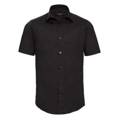 uomo-camicia-menSSfittedshirt-black