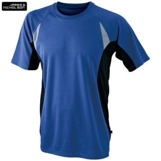 uomo-tshirt-sport-runningT-royalblack