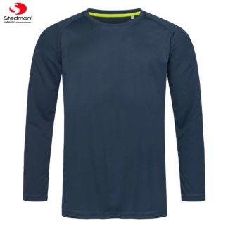 uomo-tshirt-sport-active140LS-marinablue